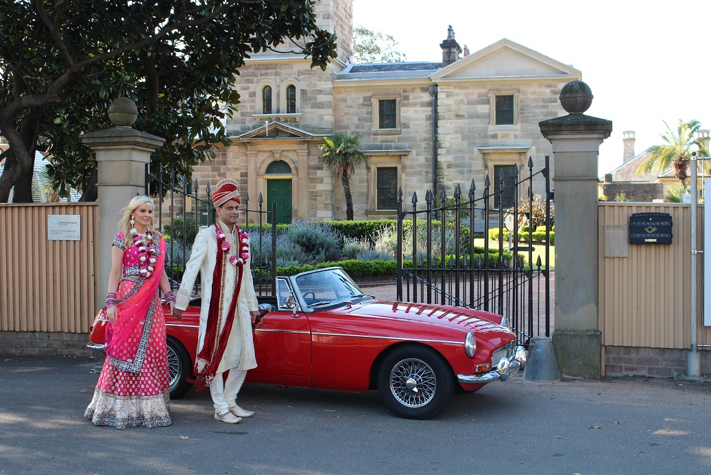 MGB wedding car