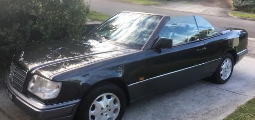 Black E Class cabriolet