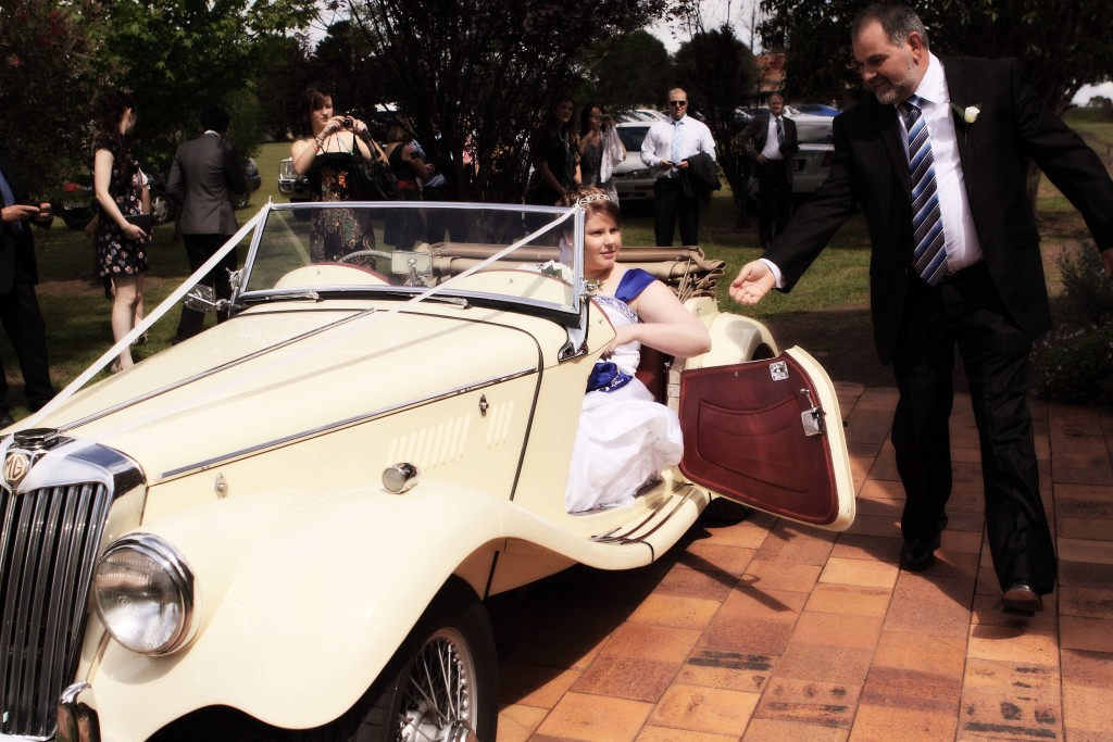 MGTD wedding car